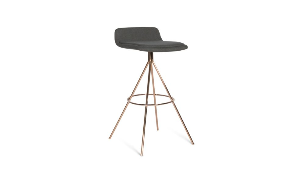 stool with brass base